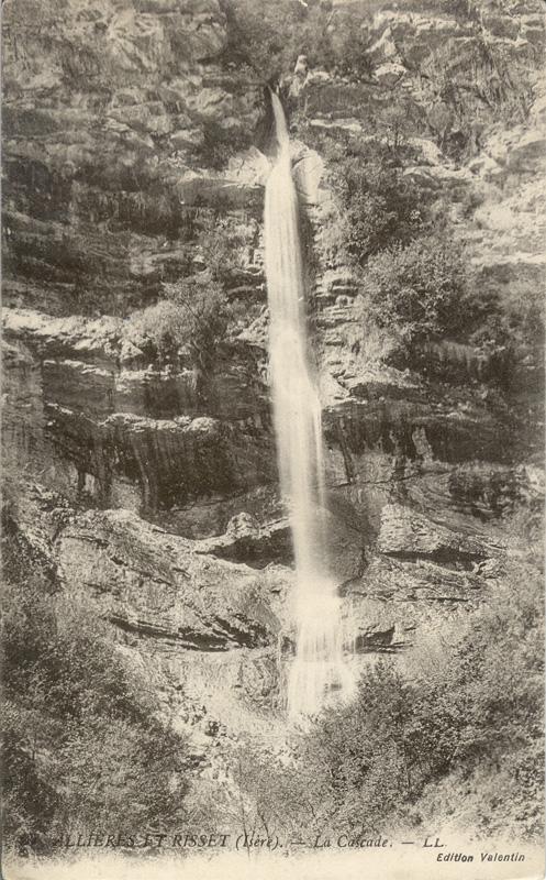 Cartes postales des cascades de Claix